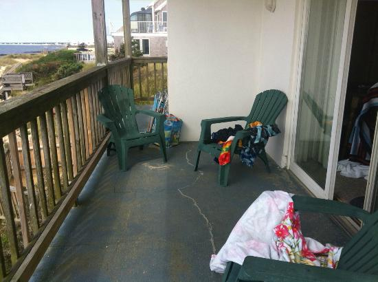 The Garlands: Private deck.