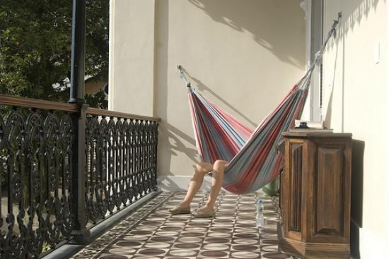 Castelinho38: hammocks on upper terrace