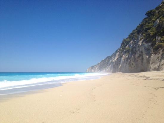 Plage d'Egremni : Spiaggia di Egremni, Lefkada Grecia