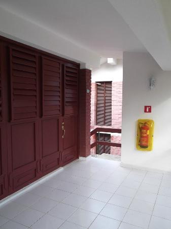 Islazul La Lupe: Balcon de notre chambre 5 au 25 mars 2012.