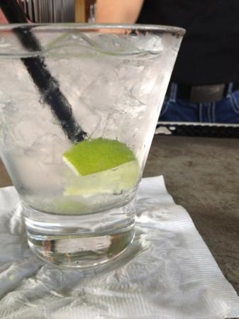 REEF: vodka tonic at the bar.