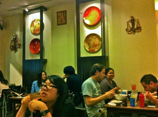 Madam Saigon: I like the expensive looking plates on display.