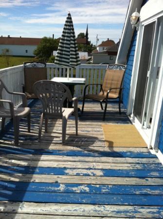 Gite la Roseraie : notre balcon privé