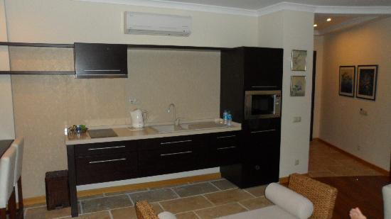 Sandima 37 Hotel Bodrum: Kitchen wall in living area of executive suite