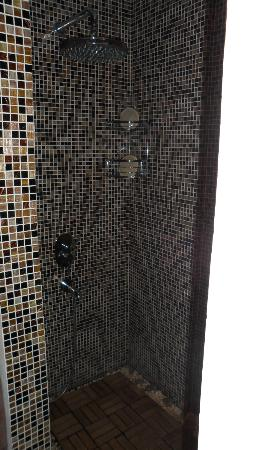 Sandima 37 Hotel Bodrum: Shower (there's a jacuzzi tub, too) in executive suite