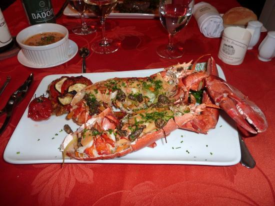 Auberge La Demoiselle : homard entier ! hummmmmm