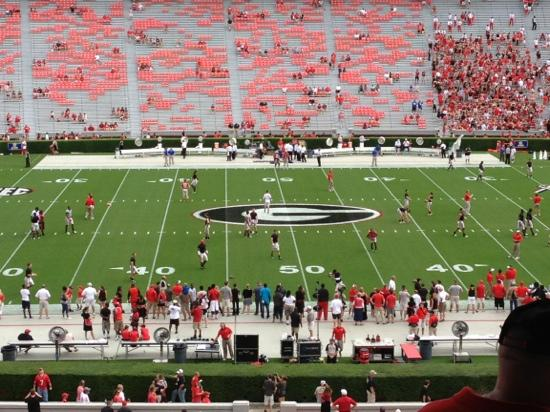 Sanford Stadium: top of the lower level