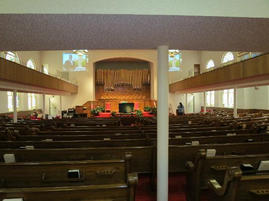 16th Street Baptist Church: Inside of church...