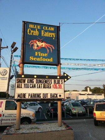 Blue Claw Crab Eatery Burlington Menu Prices Restaurant Reviews Tripadvisor