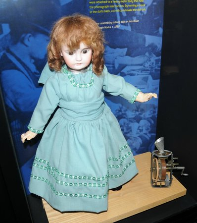 Thomas Edison National Historical Park: rare talking doll with edison player built in