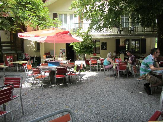 Hotel-Restaurant Stechelberg: Patio