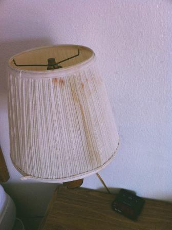 أميريكاز بست فاليو إن - سانت هيلين: Stain on bedside lamp that doesn't work. 