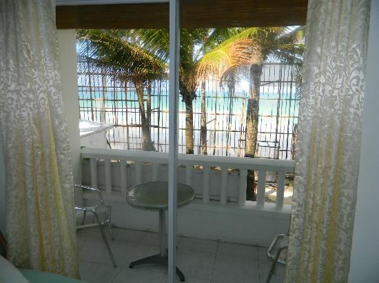 White Beach de Boracay: Our Beachview Room w/ Veranda