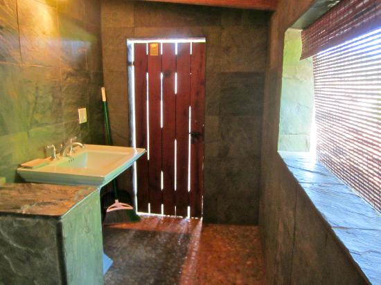 Spyglass Maui Rentals: From shower area in bathroom - Yoga studio room
