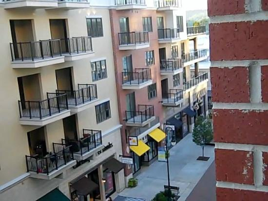 Hilton Promenade at Branson Landing: View from room of shops and condos across
