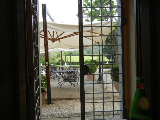 Villa di Piazzano: View from our table inside