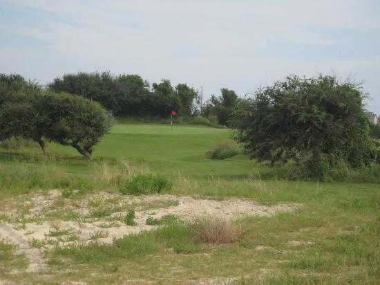 Nags Head Golf Links: View from 2nd shot on 6th hole, par 4