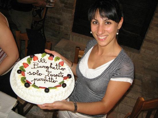Agriturismo Il Borghetto: ed eccomi in compagnia della torta per festeggiare