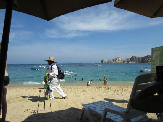 The Moxitos Beach Club: View from lounge chair @ Medano