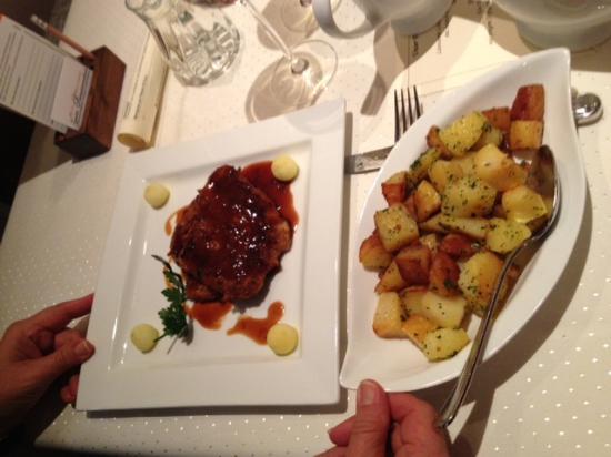 Reussenstein: Schnitzel & potatoes