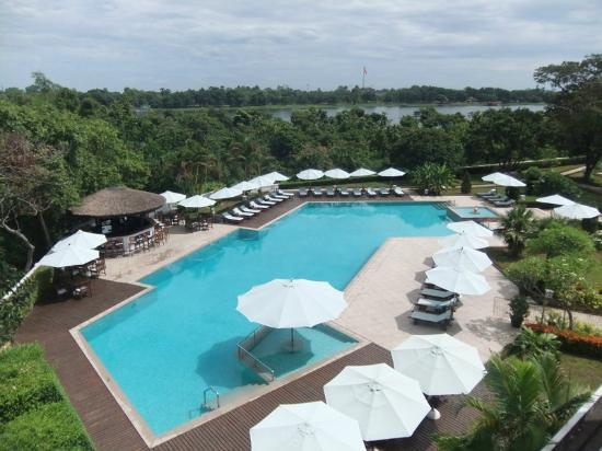 La Residence Hue Hotel & Spa - MGallery Collection: View from our room - excellent pool