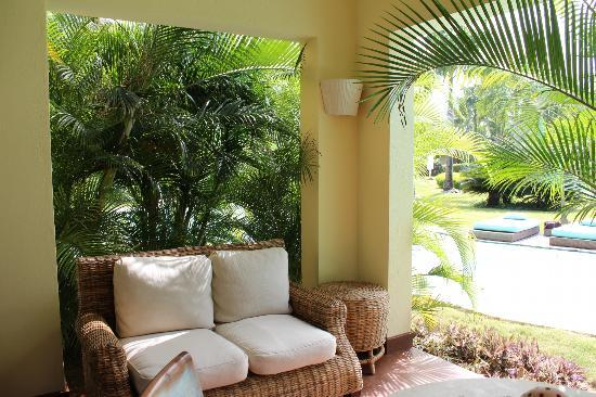 Zoetry Agua Punta Cana : Our poolside patio