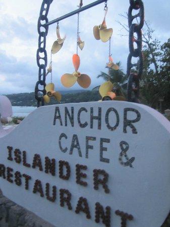 Anchor Cafe: entrance sign