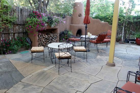 Antigua Inn: The patio where you can read or enjoy a drink