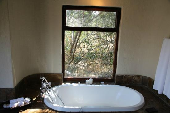 ‪‪Sabi Sabi Bush Lodge‬: View from the bathtub