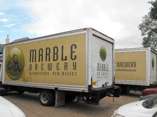 Marble Brewery: The delivery trucks