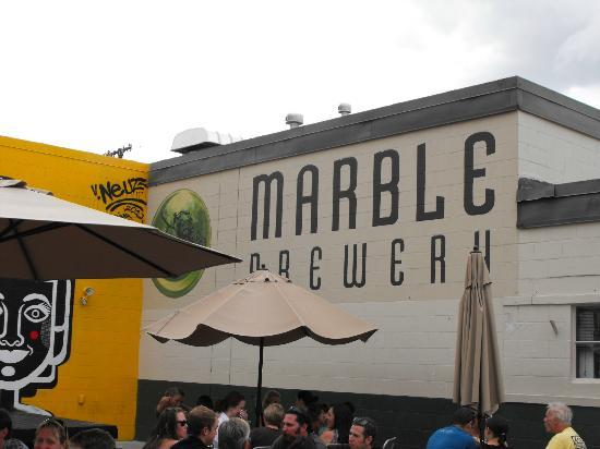 Marble Brewery: Seen from the beer garden