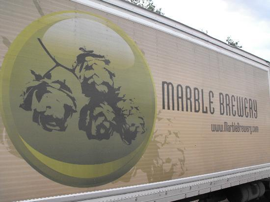 Marble Brewery: The Marble graphic on the delivery truck