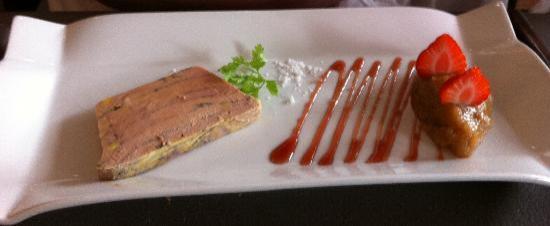 Entr e tranche de foie gras photo de le quai des aromes for Entree avec du foie gras froid