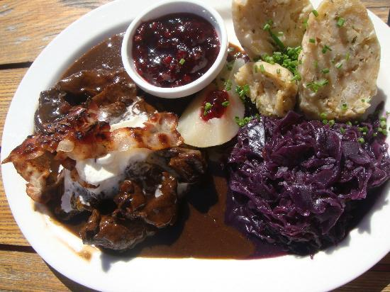 Gasthof Melkalm Kitzbühel: deer goulash