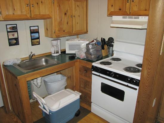 Three Rivers State Park: Cabin kitchen