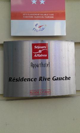 Sejours & Affaires Rive Gauche - Serris: Hotel name