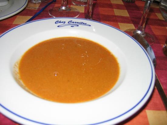 Hotel Chez Carriere : Soupe de poisson