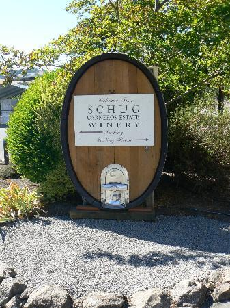 Schug Carneros Estate Winery: unique display