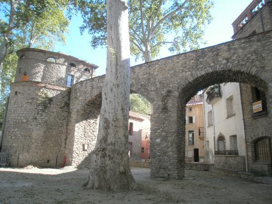 Ceret, France: View from our room of Old Gateway