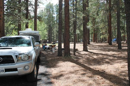 North Rim Campground: Site 37 - back of site, plenty of room