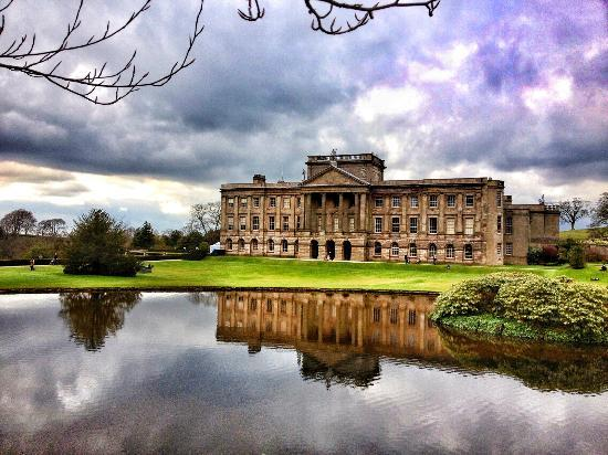 Lyme Park across the lake
