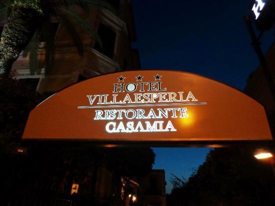 Villa Esperia Palermo : CARTEL DE ENTRADA