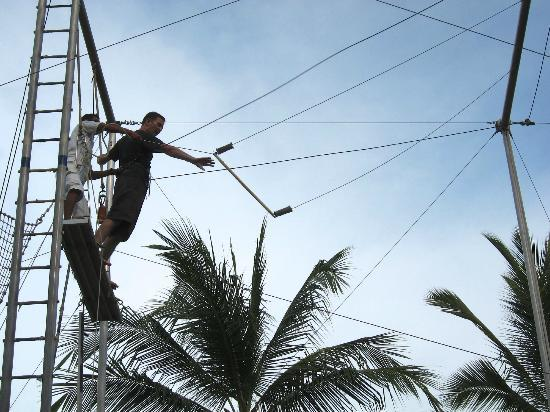 Club Med Ixtapa Pacific: My husband doing trapeze
