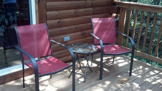 Blue Rose Cabins: patio furniture