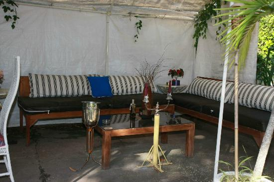 The Durham Hostel: Outdoor lounge area