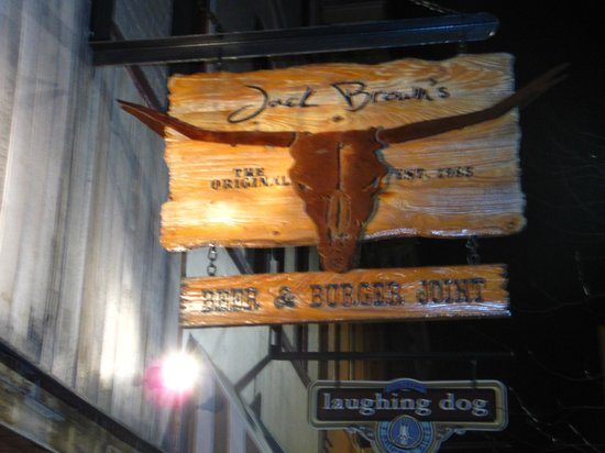 Jack Brown's Beer & burger Joint : Outside sign