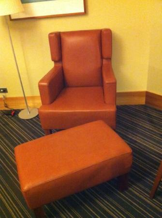RACV City Club: gentlemanly chair for napping or watching sport