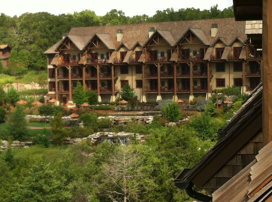 The Wilderness Club at Big Cedar: A view of one of the lodges from our balcony