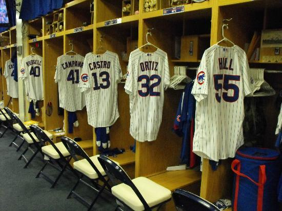 Cubs locker room - Picture of Wrigley Field, Chicago - TripAdvisor