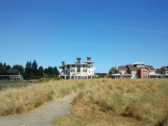 The Resort at Port Ludlow: view of INN from point